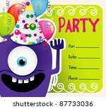 party vector invitation | Shutterstock .eps vector #87733036