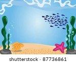 undersea background eps10 | Shutterstock .eps vector #87736861
