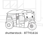 tuk tuk is car in thailand. ... | Shutterstock .eps vector #87741616