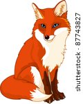 illustration of very cute fox | Shutterstock .eps vector #87743827
