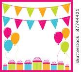 birthday vector background | Shutterstock .eps vector #87744421