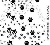 Animal Footprint Seamless...
