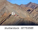 fort and tsemo gompa  leh ... | Shutterstock . vector #87753589