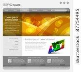 gray website template 960 grid. | Shutterstock .eps vector #87754495