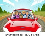 family travel in the car vector ...   Shutterstock .eps vector #87754756