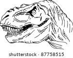 Vector   Contour Head Dinosaur...