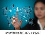 businesswoman making money form ... | Shutterstock . vector #87761428