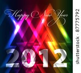 happy new year 2012 abstract... | Shutterstock .eps vector #87775792
