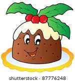 Cartoon Christmas Pudding  ...