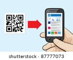illustration of mobile phone in ... | Shutterstock .eps vector #87777073