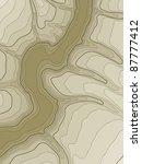 topographic map | Shutterstock . vector #87777412