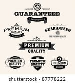 satisfaction guarantee label... | Shutterstock .eps vector #87778222