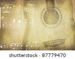 vintage colors music background ... | Shutterstock . vector #87779470