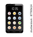 vector black smartphone | Shutterstock .eps vector #87785614