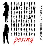 high quality traced posing...   Shutterstock .eps vector #87785833