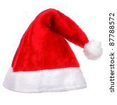 Christmas santa hat isolated on white background. - stock photo