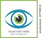 striking eye design with copy... | Shutterstock .eps vector #87790915