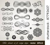 vector set  calligraphic design ... | Shutterstock .eps vector #87792637
