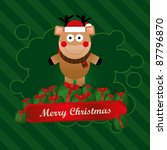 christmas vector greeting card... | Shutterstock .eps vector #87796870