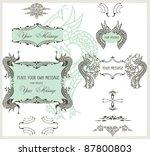 calligraphic design elements...   Shutterstock .eps vector #87800803