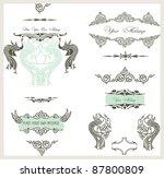 calligraphic design elements...   Shutterstock .eps vector #87800809