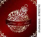 elegant christmas card with... | Shutterstock .eps vector #87803740