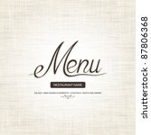 restaurant menu design | Shutterstock .eps vector #87806368