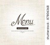 restaurant menu design | Shutterstock .eps vector #87806368