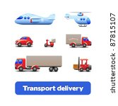 transport delivery web icon set ...