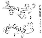 ornamental music notes with... | Shutterstock .eps vector #87815224