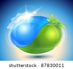 Eco Icon With Nature Yin Yang