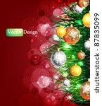eps10 modern vector christmas... | Shutterstock .eps vector #87835099
