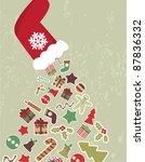 christmas card | Shutterstock .eps vector #87836332