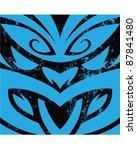 new zealand tiki mask... | Shutterstock .eps vector #87841480