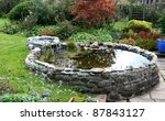 Garden Pond With Small Trickl...