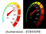 vector speedometer  in... | Shutterstock .eps vector #87845098