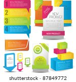 colorful web designing elements | Shutterstock .eps vector #87849772