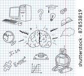 vector illustration of the brain | Shutterstock .eps vector #87853819