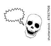 laughing skull cartoon   Shutterstock .eps vector #87857908