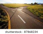 rural crossroads | Shutterstock . vector #87868234