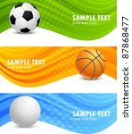 set of banners with ball | Shutterstock .eps vector #87868477