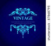 vintage invitation design.   Shutterstock .eps vector #87868795