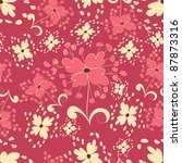 floral seamless background | Shutterstock .eps vector #87873316