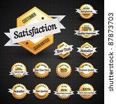 high quality labels collection | Shutterstock .eps vector #87873703