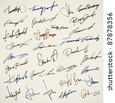 personal signature. set of... | Shutterstock .eps vector #87878356