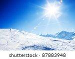 Sun Over Winter Mountains ...