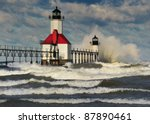 St. Joseph Lighthouse Storm  St....