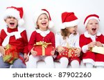 Group Of Four Children In...