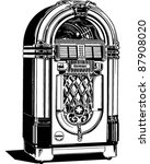 jukebox 1   retro clipart... | Shutterstock .eps vector #87908020