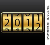lucky new year change  abstract ... | Shutterstock .eps vector #87908788